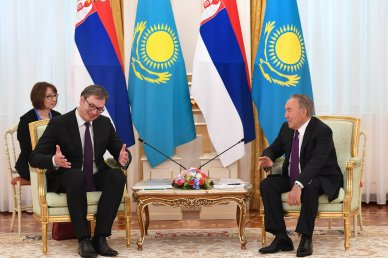 Nursultan Nazarbayev met with the President of Serbia